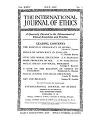International Journal of Ethics : 1917 J... Volume Vol.27 by Richardson,henry,s.