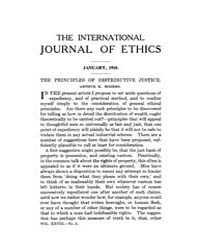 International Journal of Ethics : 1918 J... Volume Vol.28 by Richardson,henry,s.