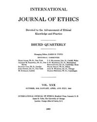 International Journal of Ethics : 1919 O... Volume Vol.30 by Richardson,henry,s.