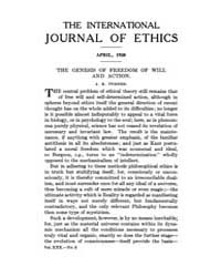 International Journal of Ethics : 1920 A... Volume Vol.30 by Richardson,henry,s.