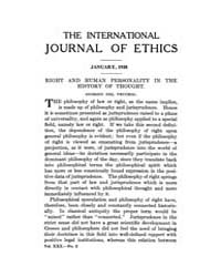 International Journal of Ethics : 1920 J... Volume Vol.30 by Richardson,henry,s.