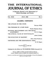 International Journal of Ethics : 1920 J... Volume Vol.30 by Richardson,henry,s.
