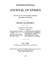 International Journal of Ethics : 1920 O... Volume Vol.31 by Richardson,henry,s.