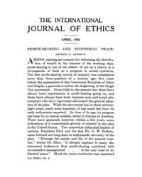 International Journal of Ethics : 1921 A... Volume Vol.31 by Richardson,henry,s.