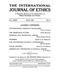 International Journal of Ethics : 1921 J... Volume Vol.31 by Richardson,henry,s.