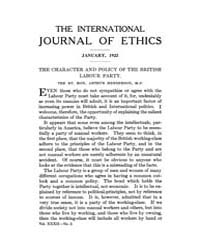 International Journal of Ethics : 1922 J... Volume Vol.32 by Richardson,henry,s.