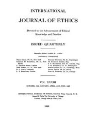 International Journal of Ethics : 1922 O... Volume Vol.33 by Richardson,henry,s.
