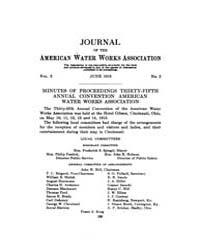 Journal (American Water Works Associatio... Volume Vol.2 by