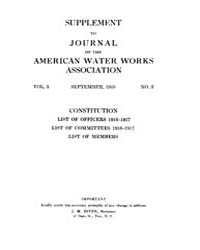 Journal (American Water Works Associatio... Volume Vol.3 by