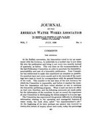 Journal (American Water Works Associatio... Volume Vol.3 by