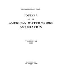 Journal (American Water Works Associatio... Volume Vol.9 by