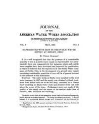 Journal (American Water Works Associatio... Volume Vol.12 by