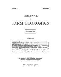 Journal of Farm Economics : 1919 Oct. No... Volume Vol.26 by