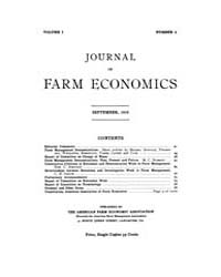 Journal of Farm Economics : 1919 Sep. No... Volume Vol.26 by