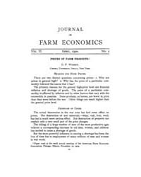 Journal of Farm Economics : 1920 Apr. No... Volume Vol.27 by