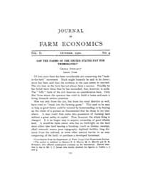 Journal of Farm Economics : 1920 Oct. No... Volume Vol.28 by