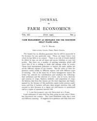 Journal of Farm Economics : 1921 Jul. No... Volume Vol.30 by
