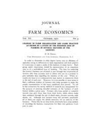 Journal of Farm Economics : 1921 Oct. No... Volume Vol.30 by