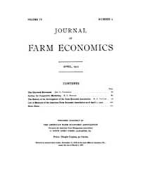 Journal of Farm Economics : 1922 Apr. No... Volume Vol.31 by