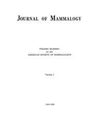 Journal of Mammalogy : 1919 Nov No. 1, V... Volume Vol.34 by
