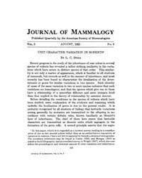 Journal of Mammalogy : 1921 Aug No. 3, V... Volume Vol.37 by