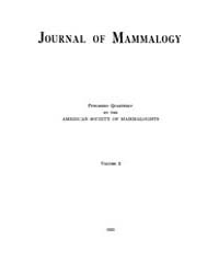 Journal of Mammalogy : 1921 Feb No. 1, V... Volume Vol.37 by