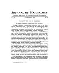 Journal of Mammalogy : 1922 Nov No. 4, V... Volume Vol.40 by