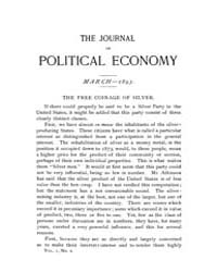 Journal of Political Economy : 1893 Mar.... Volume Vol.49 by Cowan,brian;Elbourne,elizabeth