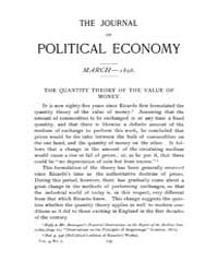 Journal of Political Economy : 1896 Mar.... Volume Vol.35 by Luce,mary,frances