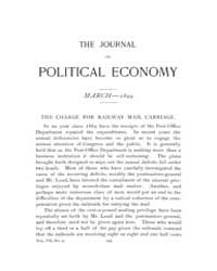 Journal of Political Economy : 1899 Mar.... Volume Vol.37 by Luce,mary,frances
