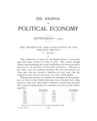 Journal of Political Economy : 1903 Sep.... Volume Vol.1 by Reny, Philip