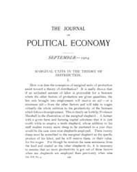 Journal of Political Economy : 1904 Sep.... Volume Vol.2 by Reny, Philip