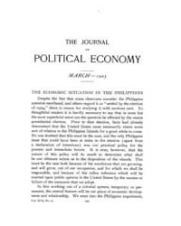 Journal of Political Economy : 1905 Mar.... Volume Vol.3 by Reny, Philip
