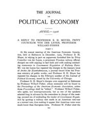 Journal of Political Economy : 1906 Apr.... Volume Vol.3 by Reny, Philip