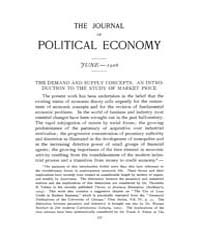 Journal of Political Economy : 1906 Jun.... Volume Vol.4 by Reny, Philip