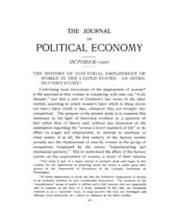 Journal of Political Economy : 1906 Oct.... Volume Vol.30 by Oyer,paul