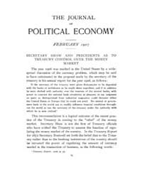 Journal of Political Economy : 1907 Feb.... Volume Vol.2 by Reny,philip