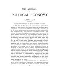 Journal of Political Economy : 1908 Apr.... Volume Vol.4 by Reny,philip
