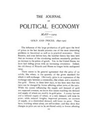 Journal of Political Economy : 1909 May ... Volume Vol.7 by Reny,philip