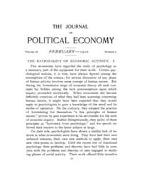Journal of Political Economy : 1910 Feb.... Volume Vol.8 by Reny,philip