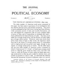 Journal of Political Economy : 1910 May ... Volume Vol.11 by Reny,philip
