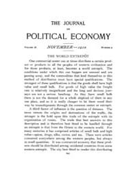 Journal of Political Economy : 1910 Nov.... Volume Vol.10 by Reny,philip