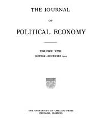 Journal of Political Economy : 1914 Jan.... Volume Vol.16 by Reny,philip