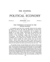 Journal of Political Economy : 1915 Nov.... Volume Vol.17 by Reny,philip