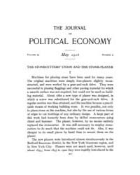 Journal of Political Economy : 1916 May ... Volume Vol.18 by Reny,philip