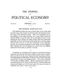 Journal of Political Economy : 1917 Feb.... Volume Vol.19 by Reny,philip