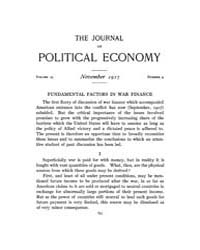 Journal of Political Economy : 1917 Nov.... Volume Vol.19 by Reny,philip
