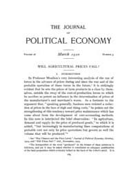 Journal of Political Economy : 1920 Mar.... Volume Vol.22 by Reny,philip