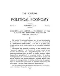 Journal of Political Economy : 1920 Nov.... Volume Vol.22 by Reny,philip