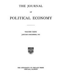 Journal of Political Economy : 1921 Jan.... Volume Vol.23 by Reny,philip